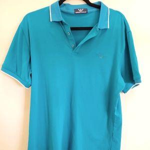 Giorgio Armani men's polo shirt Blue Aqua Rare! …